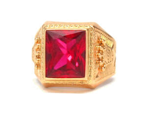 Men's 18K Ruby Ring